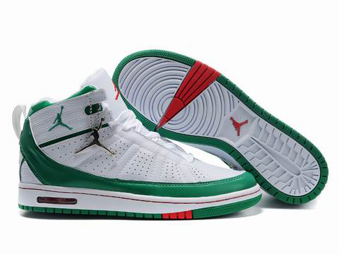 2010 Air Jordan Shoes White Green Red