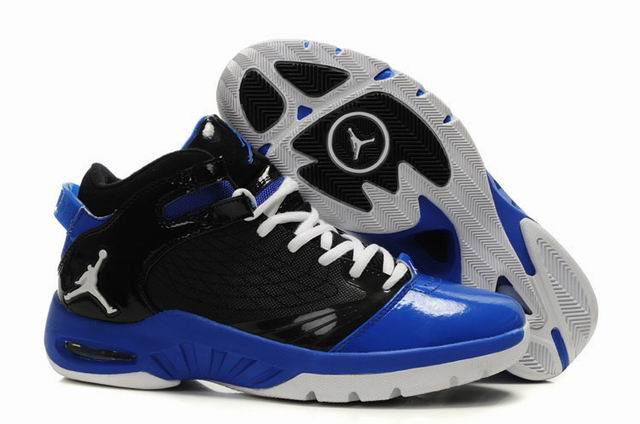 Cheap Air Jordan Shoes New School Black Blue White