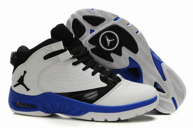 Cheap Air Jordan Shoes New School White Black Blue