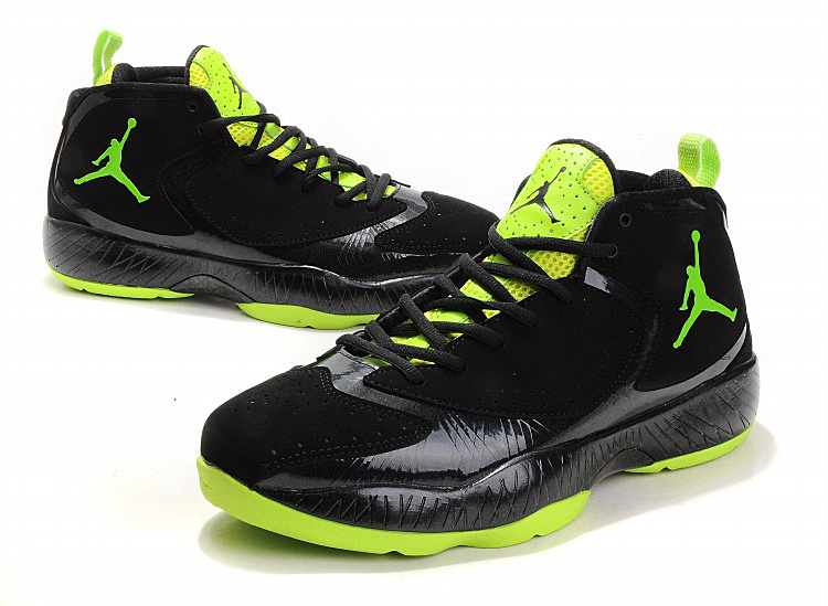 2012 Air Jordan Shoes Black Green