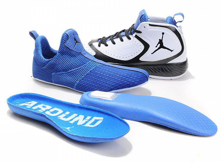 2012 Air Jordan Shoes White Blue