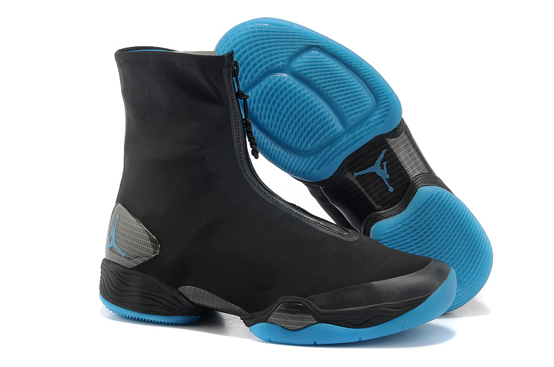 2013 Jordan 28 Black Blue Shoes