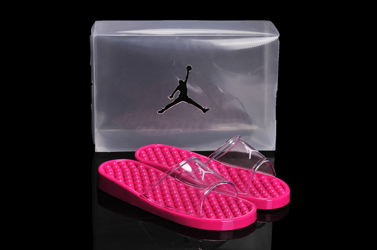 2013 New All Pink Jordan Sandal For Women