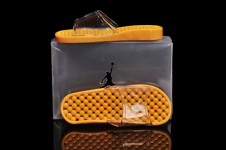 2013 New All Yellow Jordan Sandal For Women