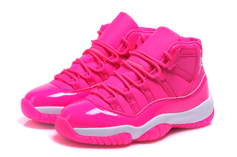 Cheap 2015 Air Jordan 11 Pink Shoes For Women