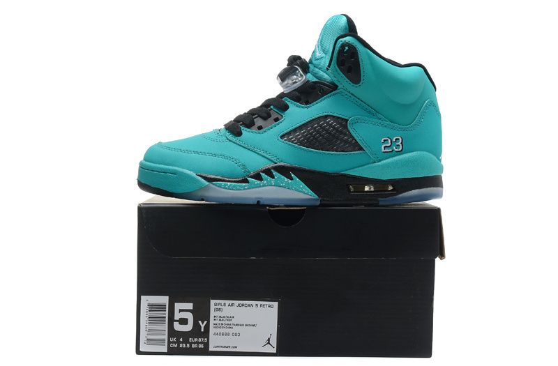 Cheap Real 2015 Jordan Jordan 5 Green Black
