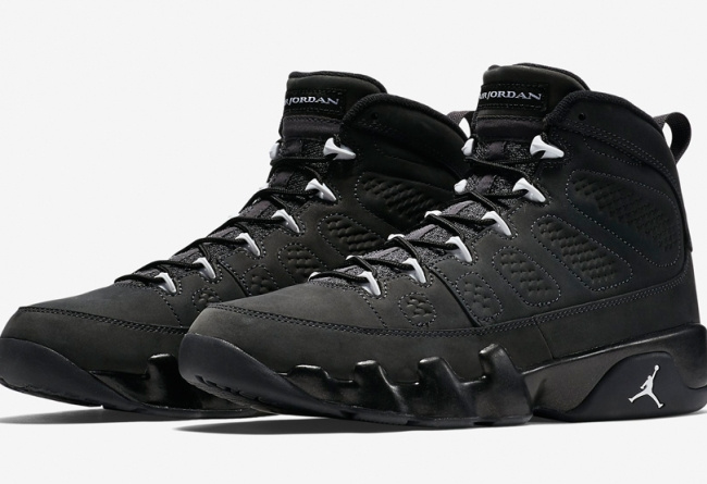 2015 Air Jordan 9 Anthracite Shoes with Number 23