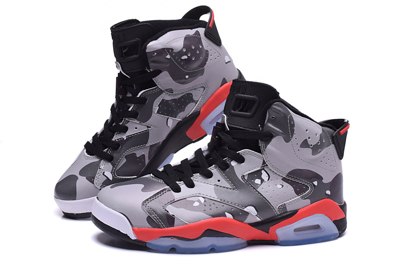 Cheap 2015 Jordan 6 Lover Army Grey Red Black Shoes