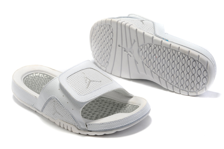 2015 Latest Air Jordan Hydro 2 All White Sandal