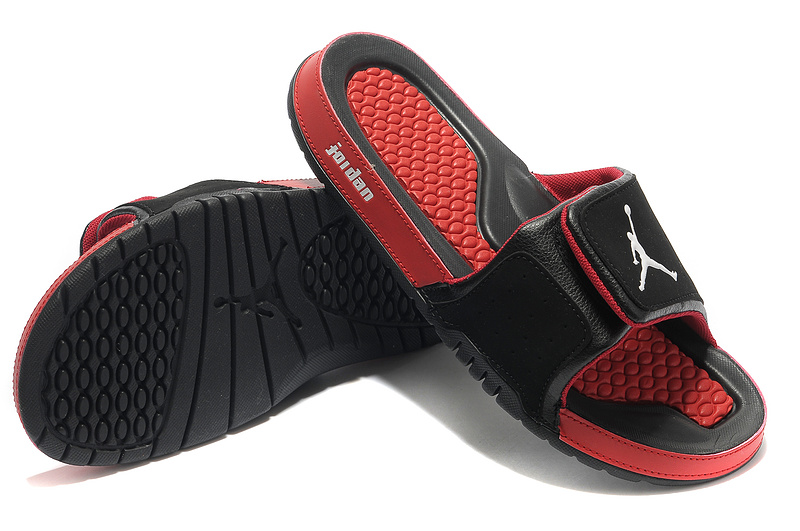 2015 Latest Air Jordan Hydro 2 Black Red Sandal