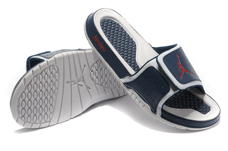 2015 Latest Air Jordan Hydro 2 Dark Blue Red White Sandal
