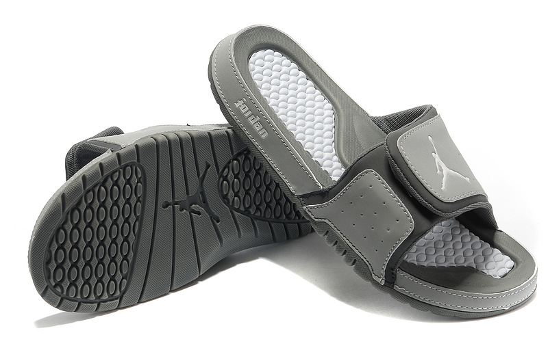 2015 Latest Air Jordan Hydro 2 Grey Sandal