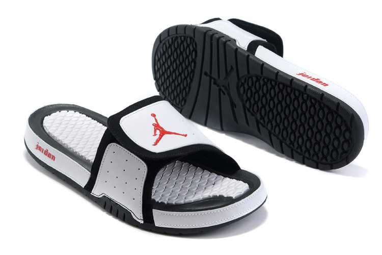 2015 Latest Air Jordan Hydro 2 White Black Red Sandal