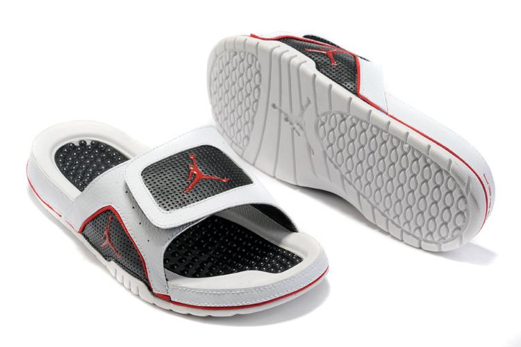2015 Latest Air Jordan Hydro 5 Black Red White Sandal