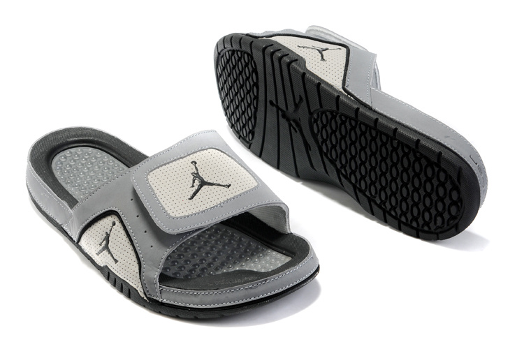 2015 Latest Air Jordan Hydro 5 Grey Black Sandal
