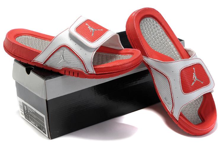 2015 Latest Air Jordan Hydro 5 Red White Sandal