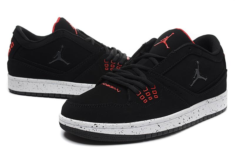 Real Jordan 1 Low Black Red Shoes