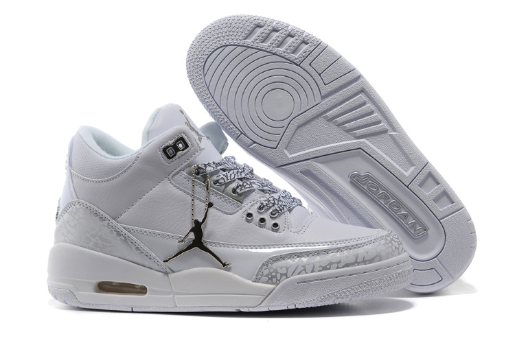 Real Jordan 3 Retro Grey Cement Lover Shoes