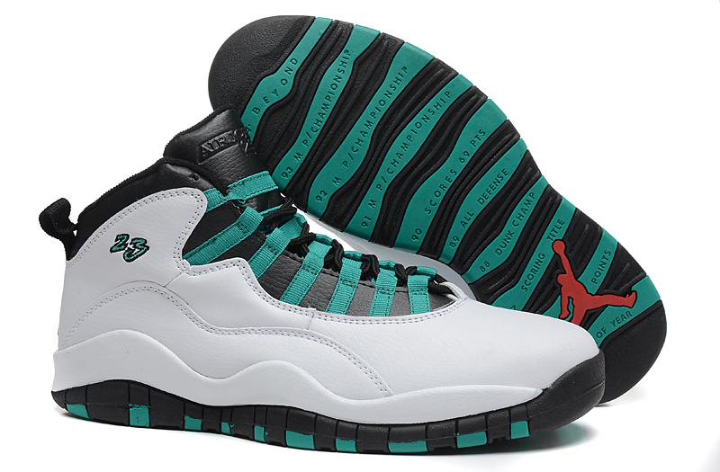Real Jordan 3 Retro White Green Black Shoes