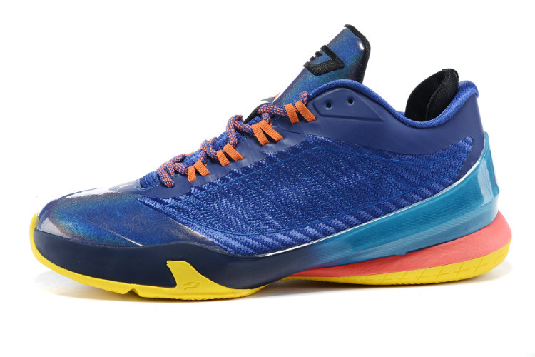 Real Nike Jordan CP3 VIII Sea Blue Pink Orange Shoes