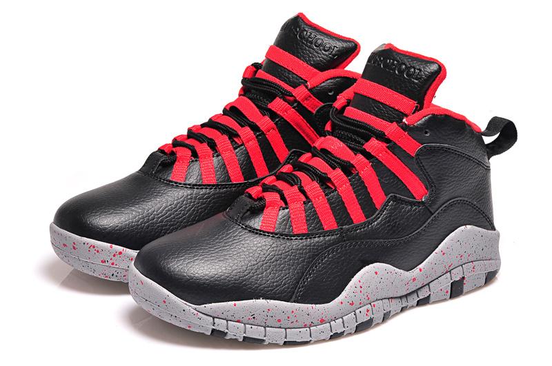 Real Jordan 10 Retro Black Red Shoes