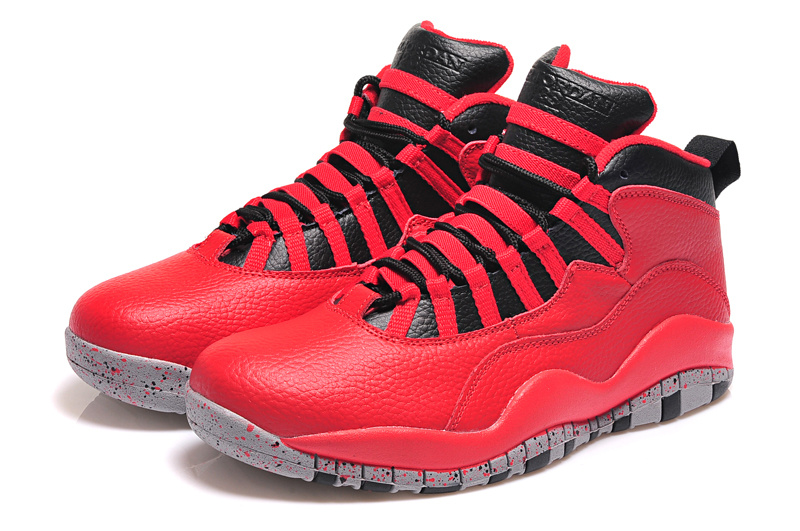 Real Jordan 10 Retro Red Black Shoes