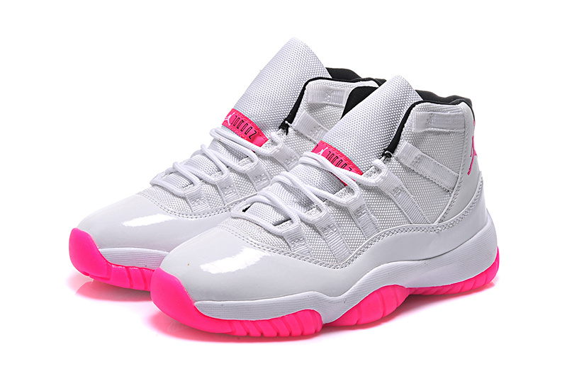 Cheap 2015 Original Air Jordan 11 Low White Pink For Women