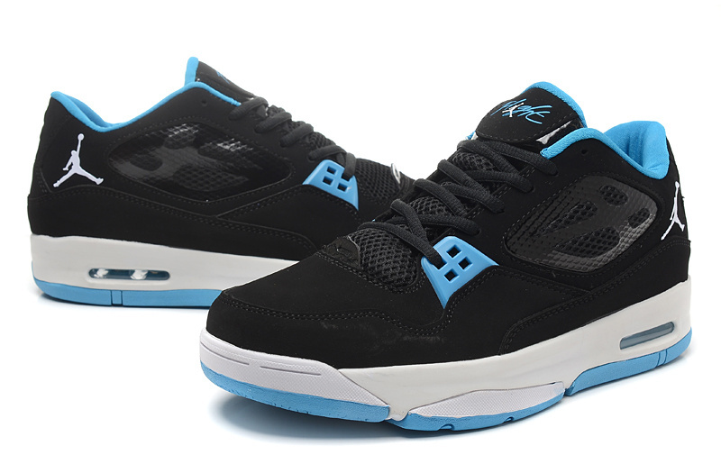 Real Air Air Jordan Flight 23 RST Low Black Baby Blue Shoes