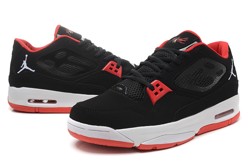 Real Air Air Jordan Flight 23 RST Low Black Red Shoes