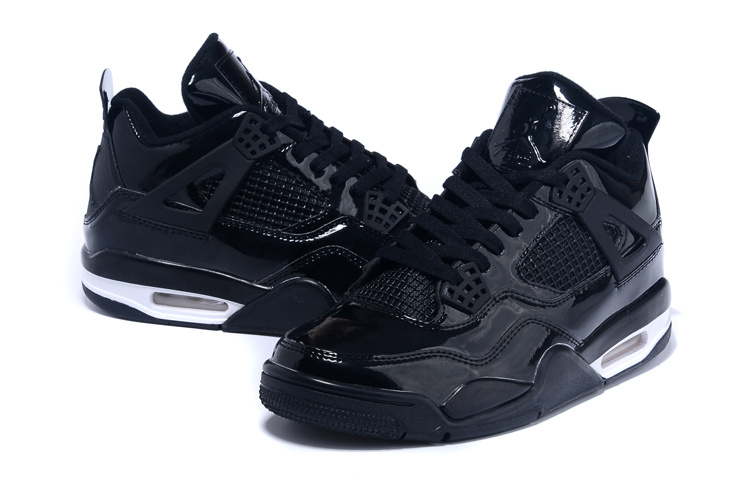 Real Jordan 4 Black White Shoes