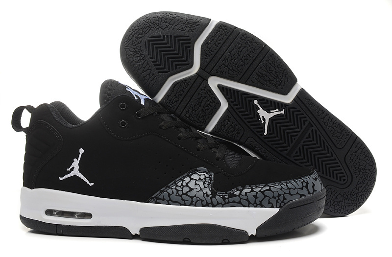 Real Air Jordan Cement Black White Shoes