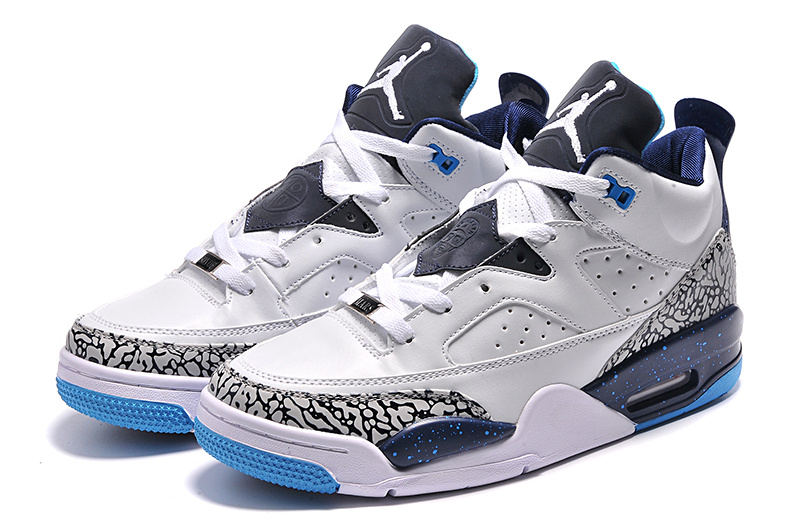 Real White Blue Jordan Son of Mars Low Shoes