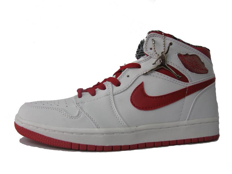 Cheap Air Jordan 1 Shoes White Red
