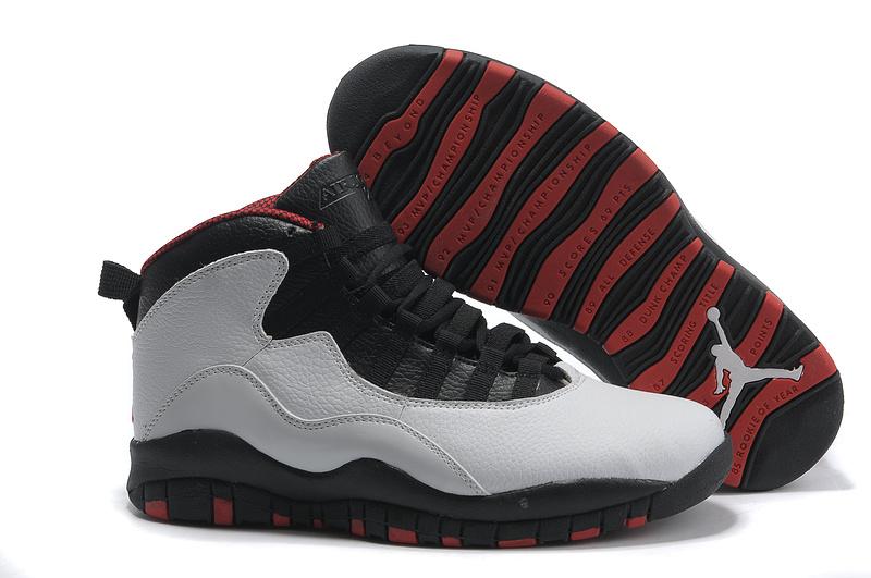 Cheap Air Jordan Shoes 10 Grey Black Red