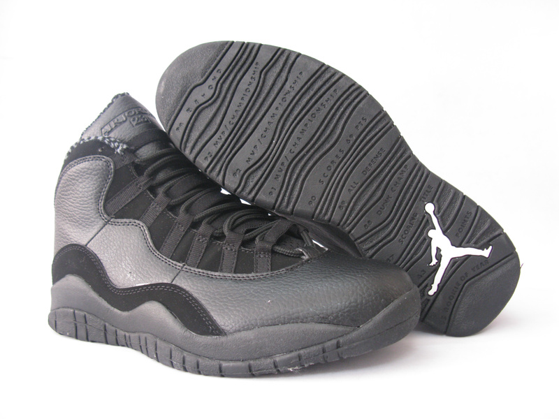 Cheap Air Jordan Shoes 10 Grey Black