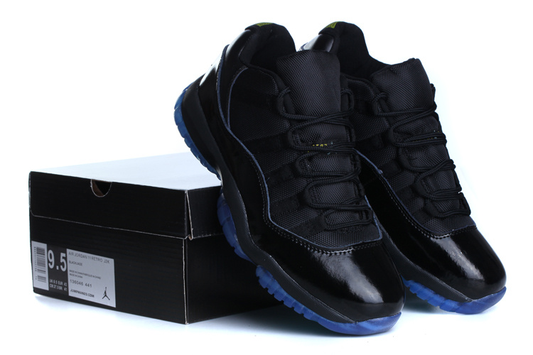 Cheap Real 2015 Jordan Jordan 11 Low Black Blue