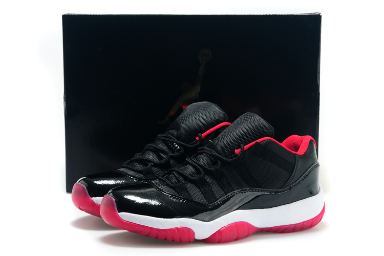 Cheap Real 2015 Jordan Jordan 11 Low Bred Black Red White