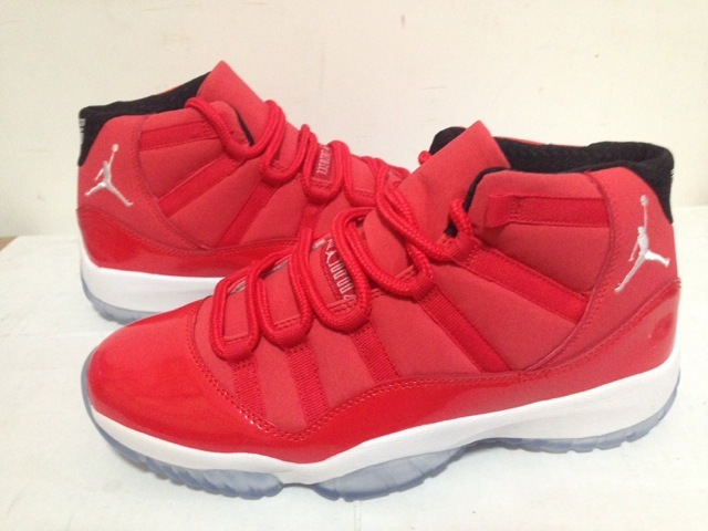 Cheap Real 2015 Jordan Jordan 11 Toro Red White