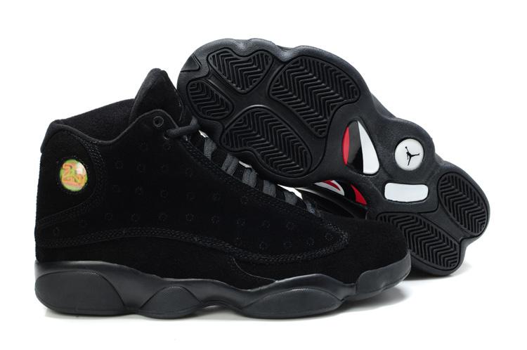 Cheap Air Jordan Shoes 13 Shoes Suede All Black