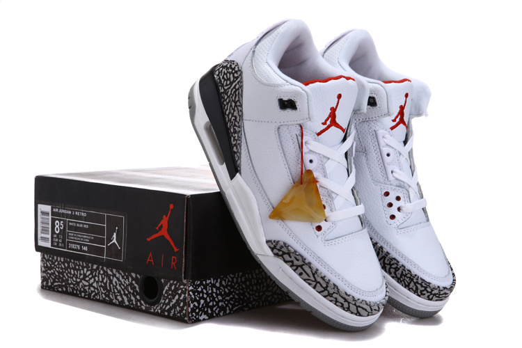 Special Air Jordan 3 Chalcedoney Edition White Grey