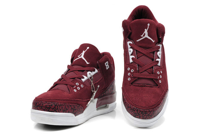 Cheap Air Jordan Shoes 3 Leather Red White