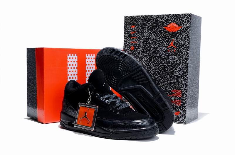 Cheap Air Jordan Shoes 3 Limited Edition All Black