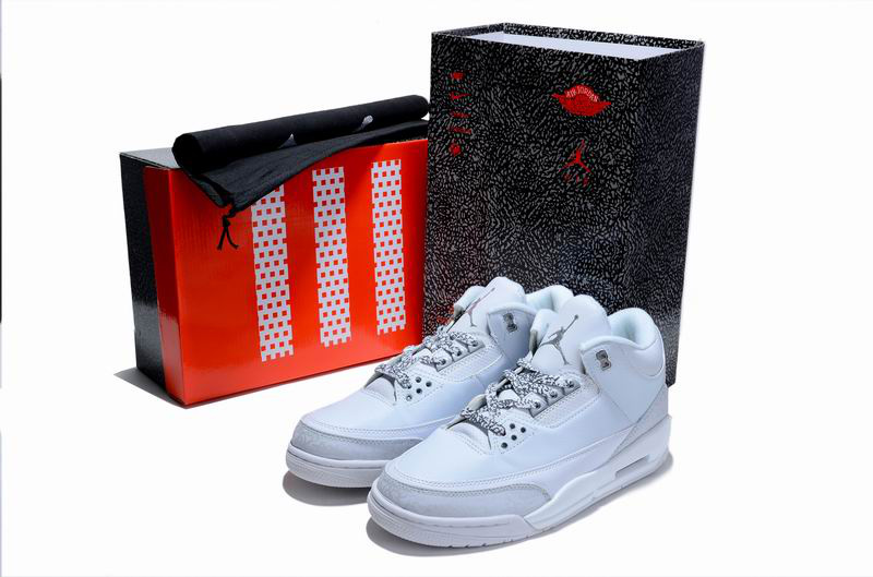 Cheap Air Jordan Shoes 3 Limited Edition All White