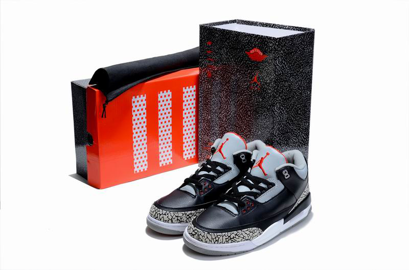 Cheap Air Jordan Shoes 3 Limited Edition Black Cement White