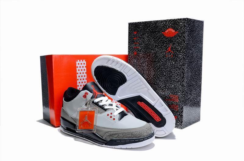 Cheap Air Jordan Shoes 3 Limited Edition Grey Cement Black