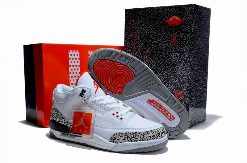 Cheap Air Jordan Shoes 3 Limited Edition White Cement