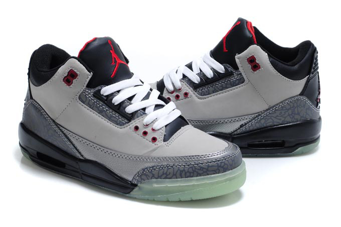 Cheap Air Jordan Shoes 3 Midnight Grey Black