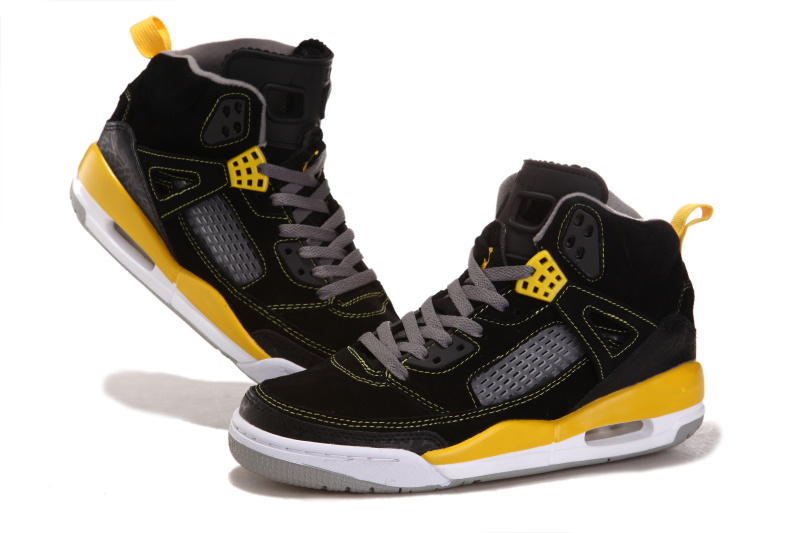 Air Jordan 3.5 Shoes Suede Black White Yellow