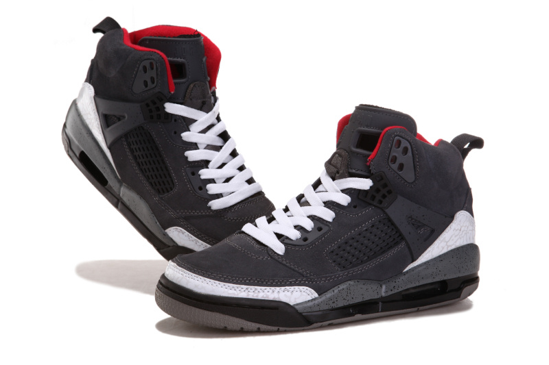 Air Jordan 3.5 Shoes Suede Grey White Black Red