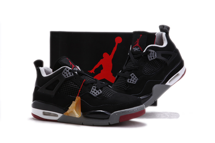 Latest Air Jordan 4 Chalcedoney Edition Black White Red